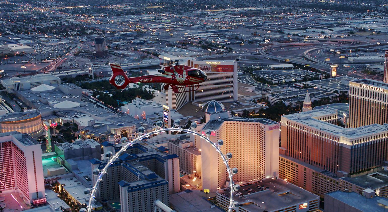 Las Vegas Strip Highlights Night Flight