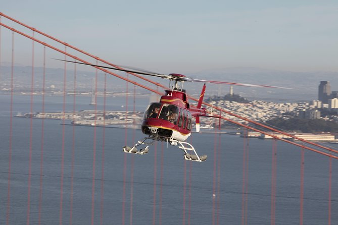 San Francisco Helicopter Tour with Wine Tasting and Food Pairing