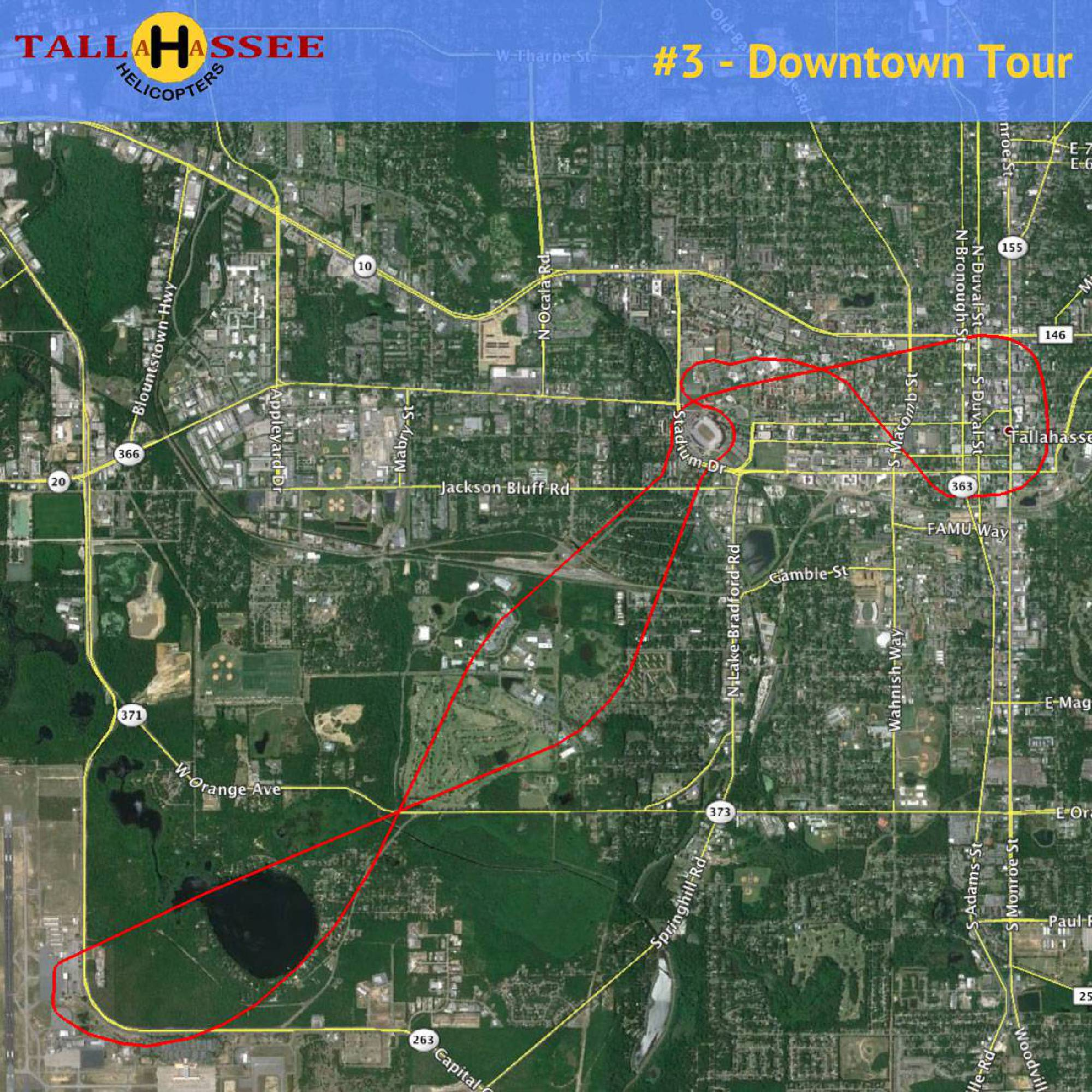 Tallahassee Downtown Helicopter Tour