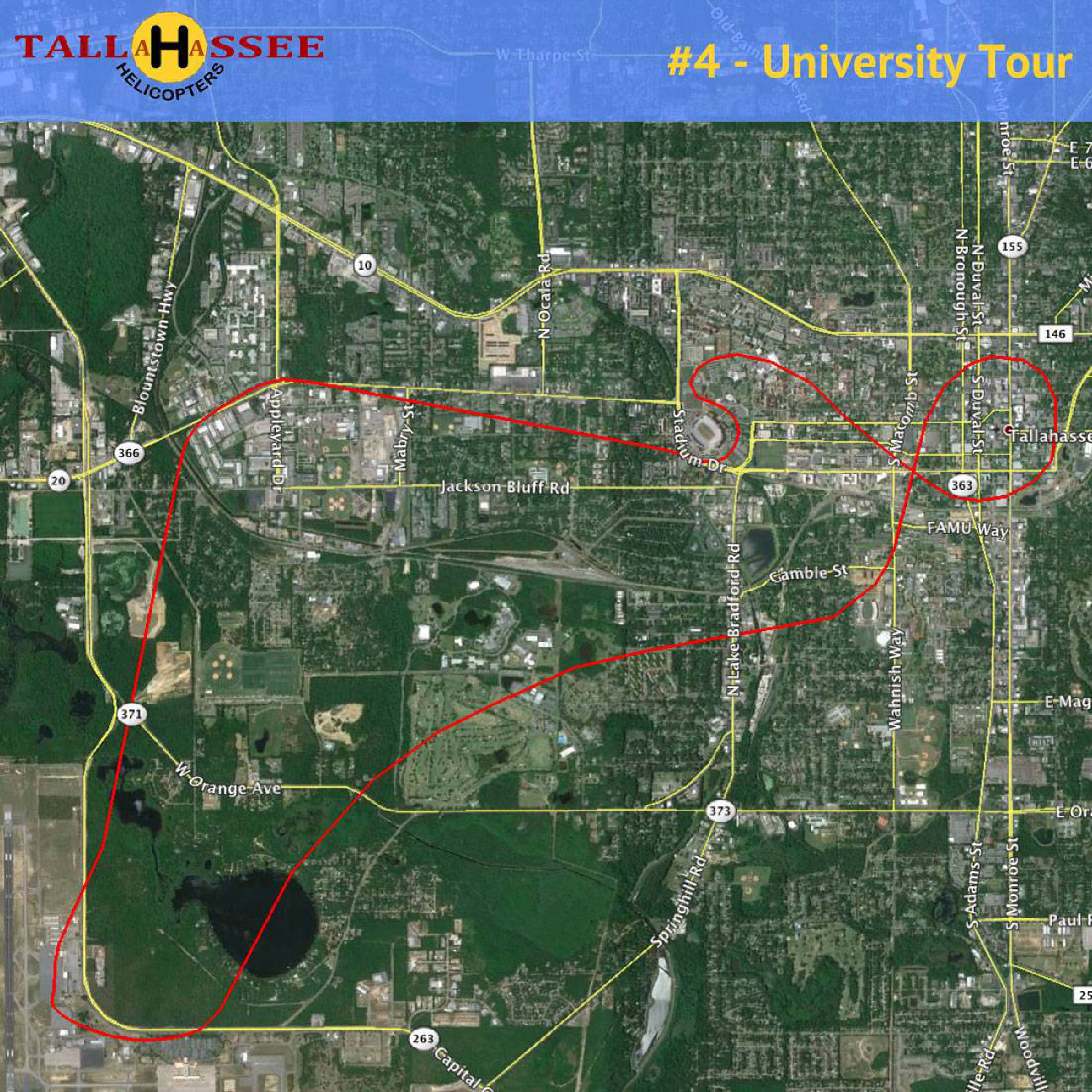 Tallahassee University Helicopter Tour