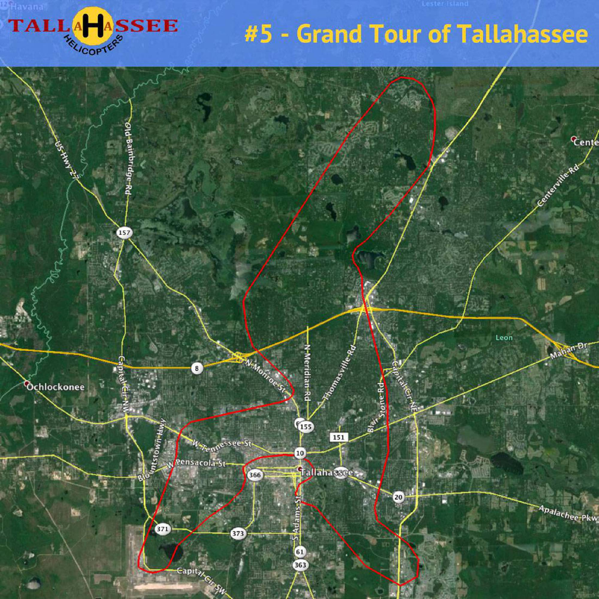 Grand Helicopter Tour of Tallahassee