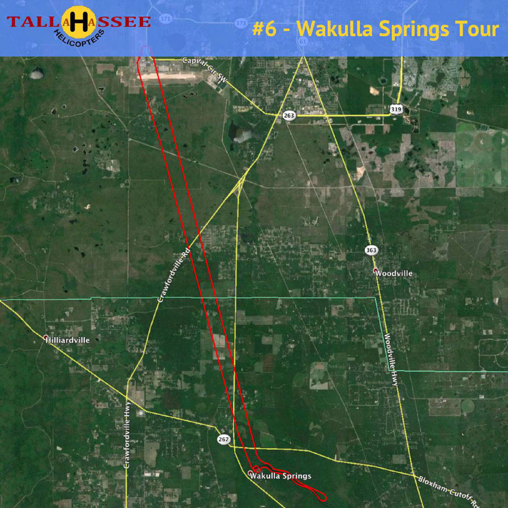 Wakulla Springs Helicopter Tour