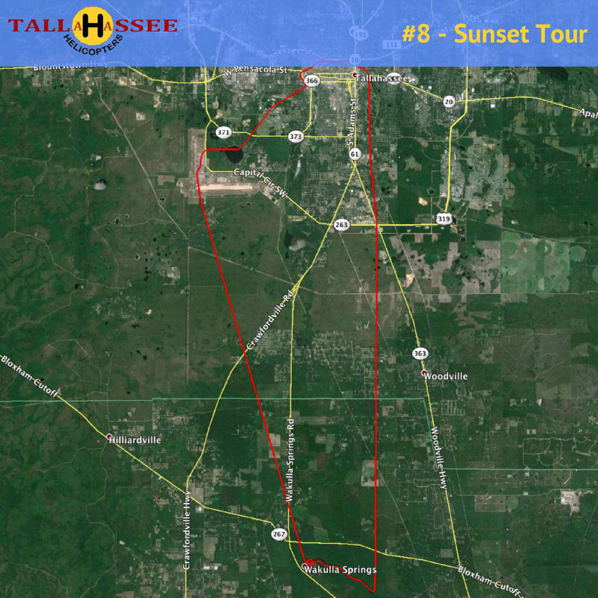 Tallahassee Sunset Helicopter Tour