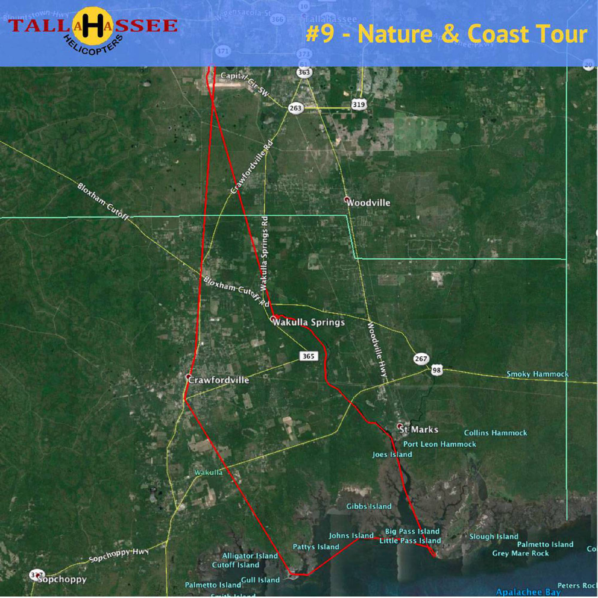 Tallahassee Nature & Coast Helicopter Tour