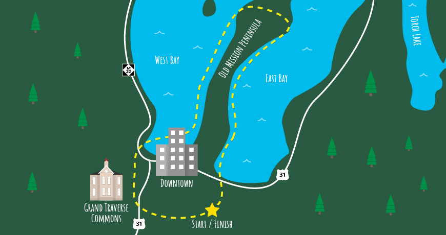 Traverse City Two Bays Helicopter Tour