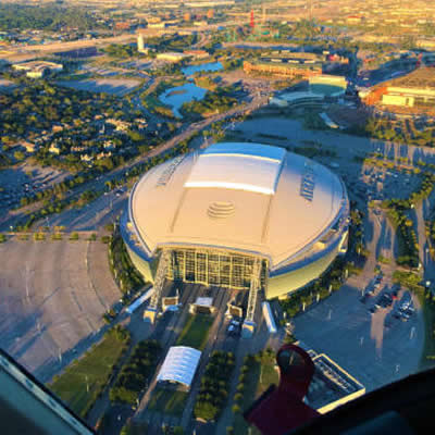 VIP Skyline and Stadium Helicopter Tour