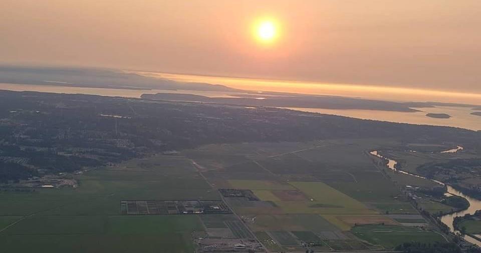 Snohomish Sunset Evening Flight