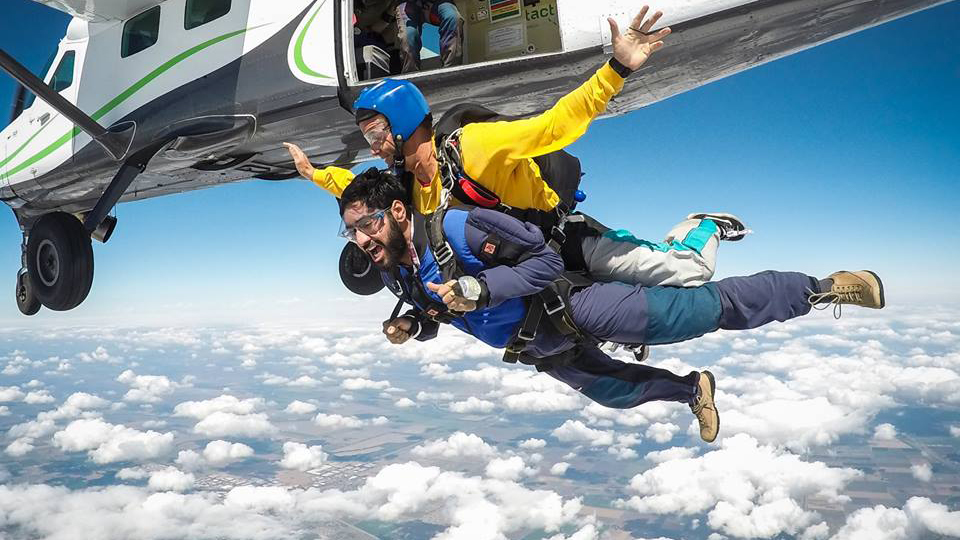 Sacramento First Skydive with SkyDance