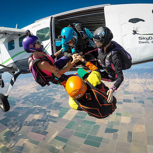 Get a Skydiving License in Sacramento