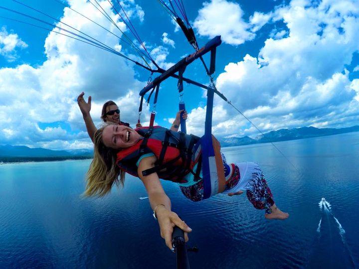 Parasailing in South Lake Tahoe