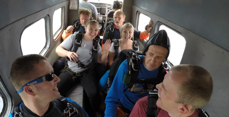 Tandem Skydive in Xenia