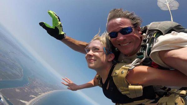 Tandem skydiving in Port Aransas