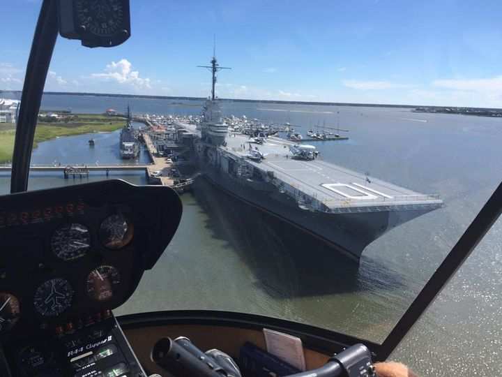 Fly In Helicopters - Fort Sumter Tour