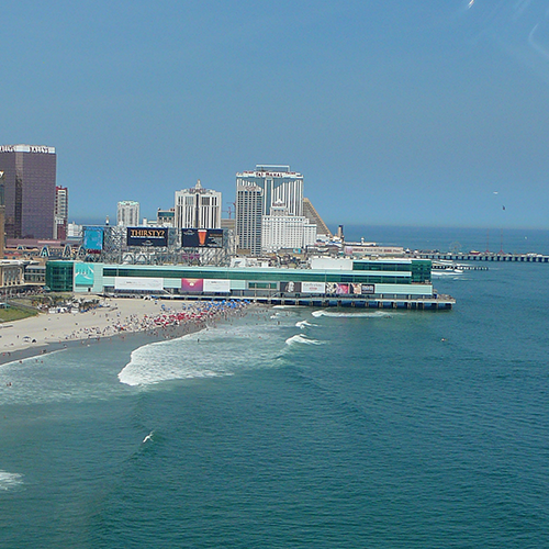 Steel Pier Helicopter Shoreline Tour