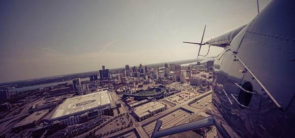Downtown Detroit Helicopter Tour