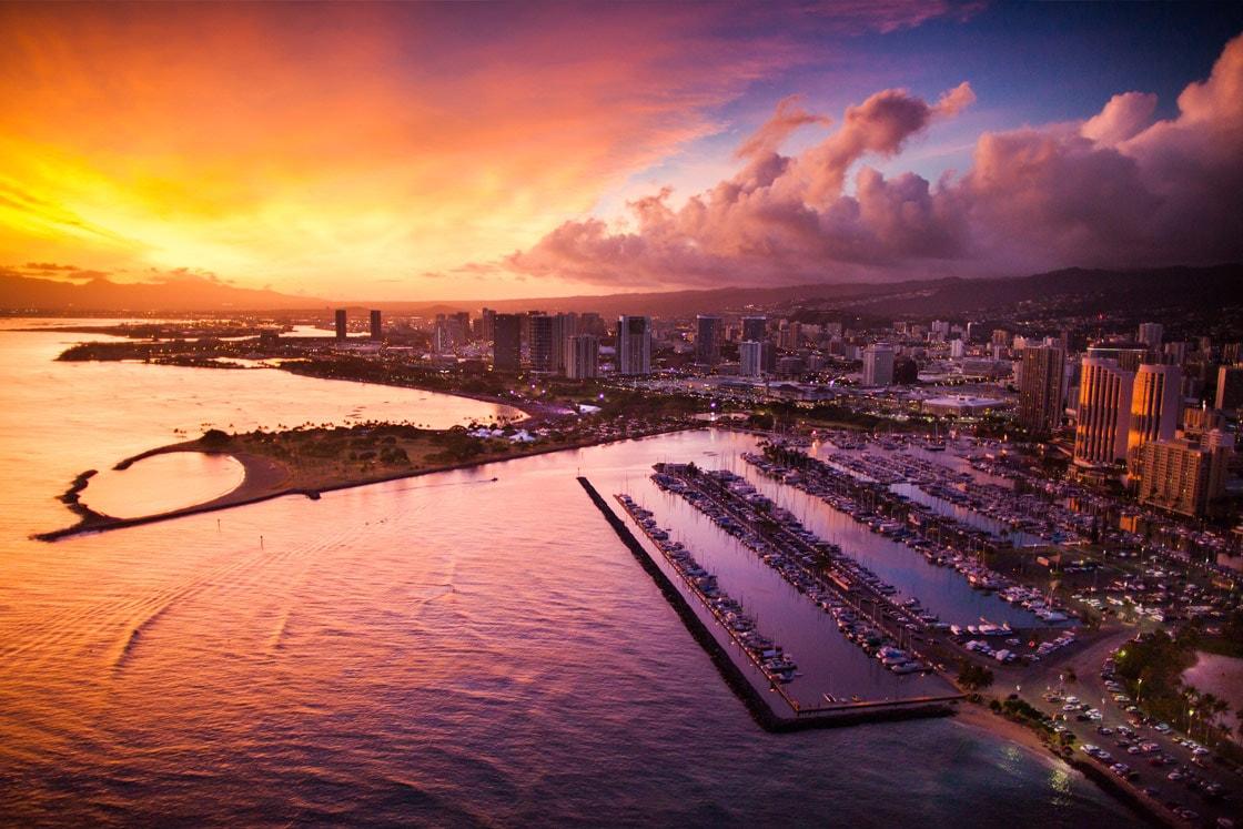 Rainbow Helicopters - Waikiki Sunset