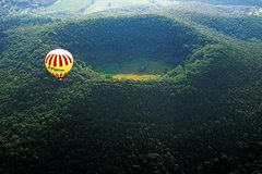 Private Hot Air Balloon over Volcanoes from Barcelona