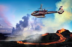 Circle of Fire and Waterfalls Helicopter Tour from Hilo