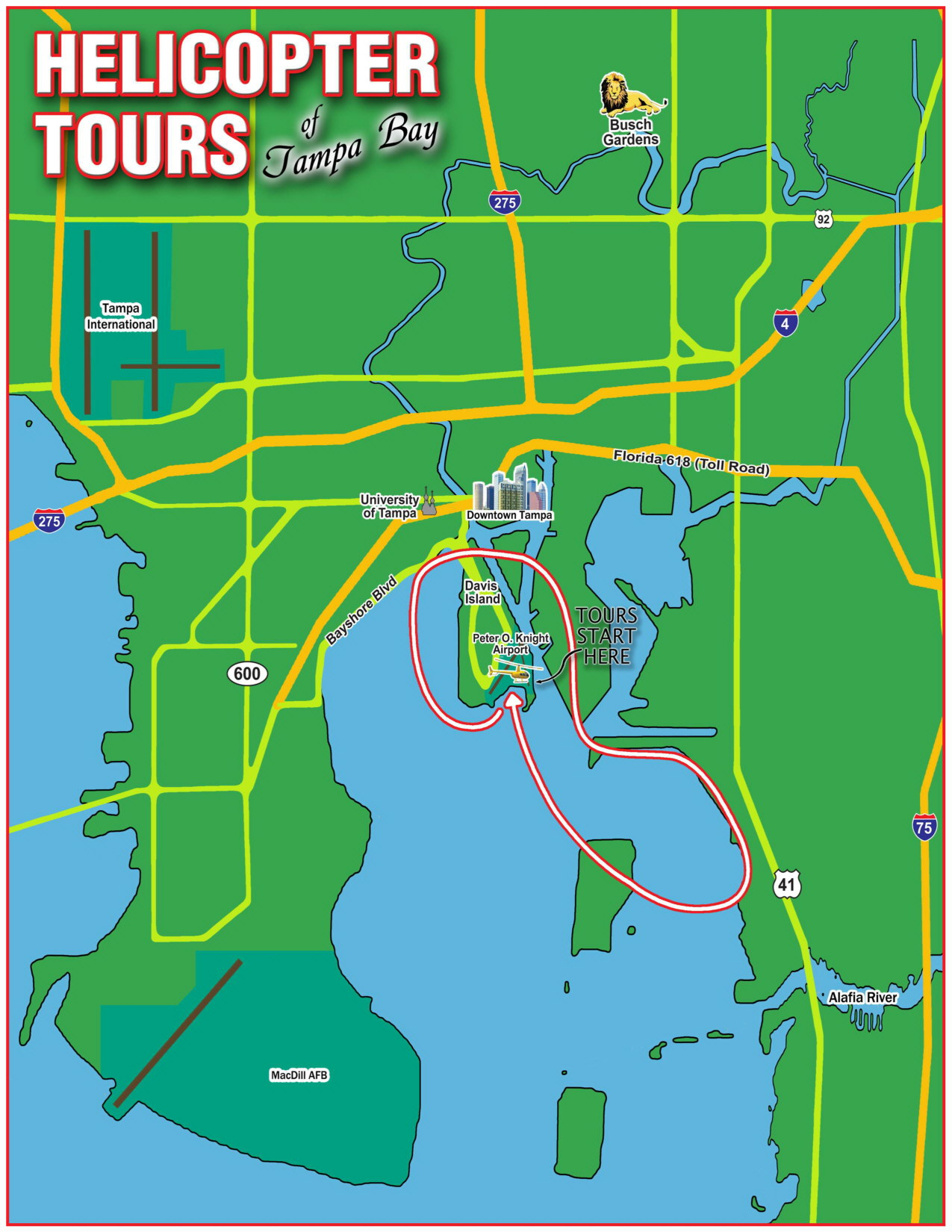 Tampa Bay & Davis Island Helicopter Tour