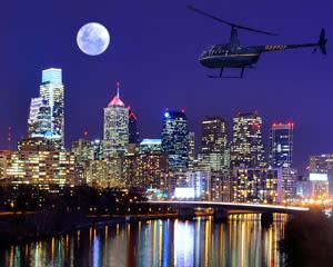 Private Helicopter Ride Philadelphia Night Flight