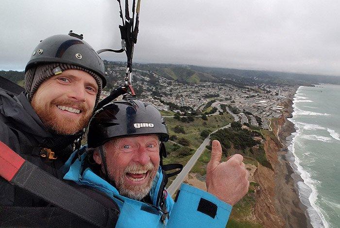 San Francisco Paragliding Flight