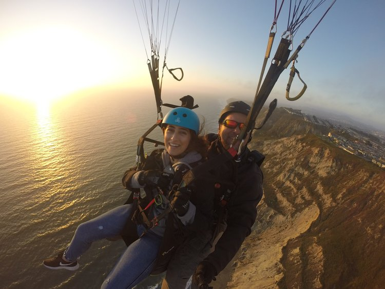 Tandem Paragliding in the San Francisco Bay Area