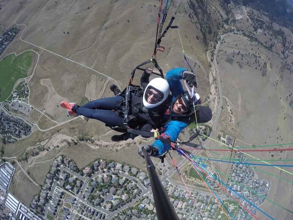 Boulder Paragliding Free Flight